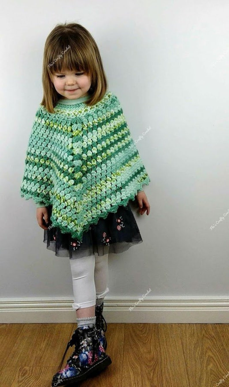 Childs Crochet Poncho Pattern Pdf Only From Newborn To 12 Etsy