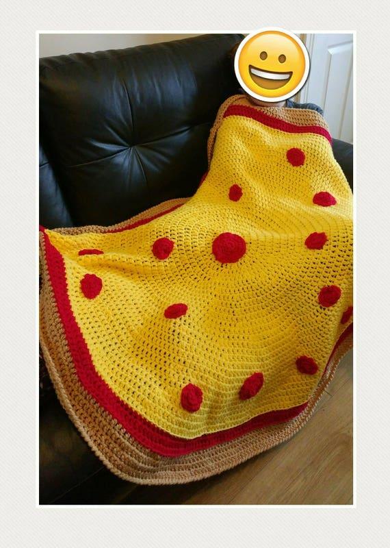 Handarbeit häkeln Pizza Decke. Ein Wurf Afghan Decke