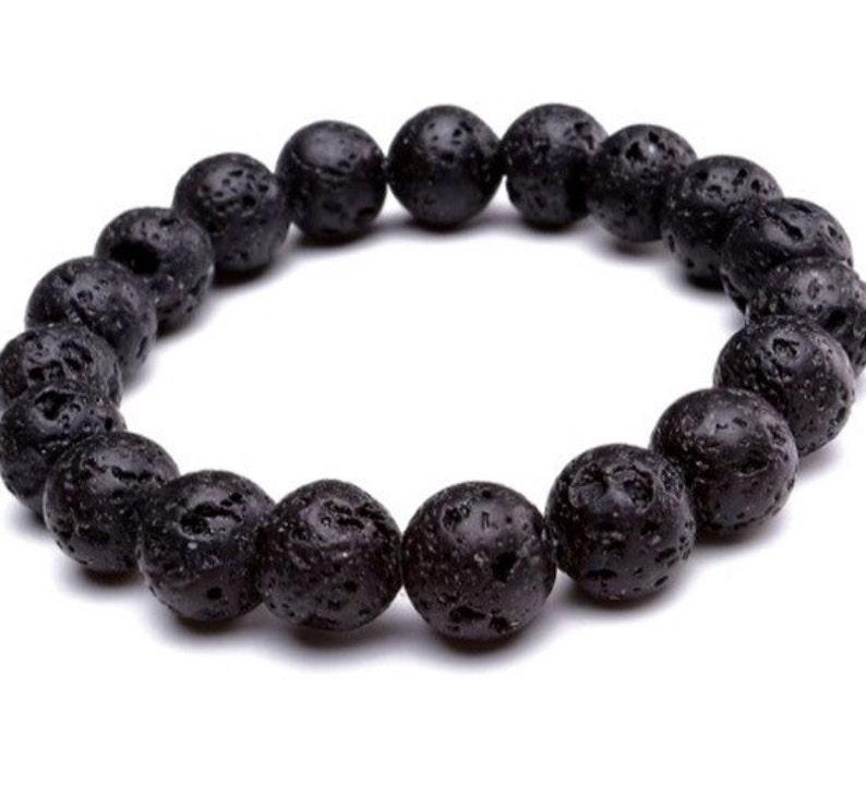 Volcanic lava bracelet,black volcanic lava bracelet,black onyx bracelet,mens lava jasper bracelet,mens volcanic bracelet,