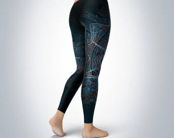 4a7c7595d6 Big Data Fractal - Women's Yoga Pants/Yoga Leggings