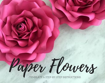 Paper flower template | flower template | paper flower backdrop | flower backdrop | giant paper flower | large paper flowers | paper rose
