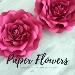 Paper quilling rose etsy paper flower template flower template paper flower backdrop flower backdrop giant paper flower large paper flowers paper rose mightylinksfo