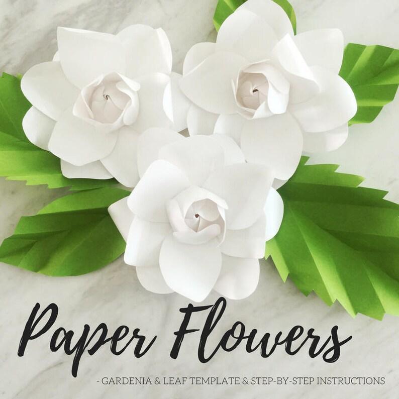 Paper gardenia template  paper flower template  paper flower image 0