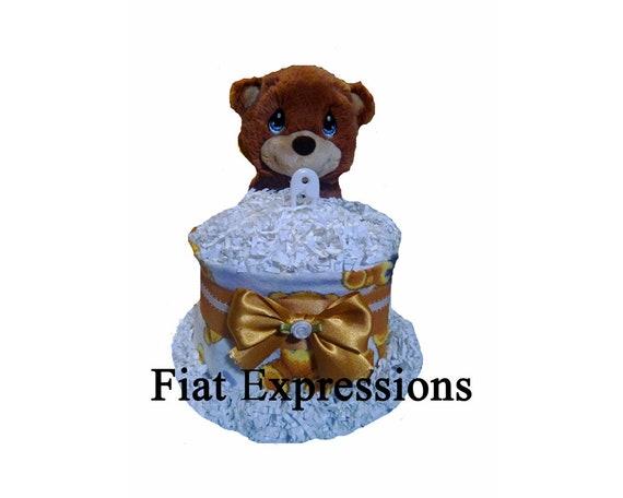 Teddy Bear Mini Diaper Cake Teddy Baby Shower Gift Baby Etsy