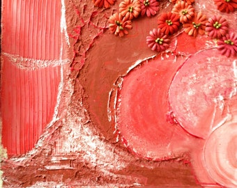 """Painting - 11x14 Original Handmade Abstract Tree on Canvas entitled """"Summer"""""""