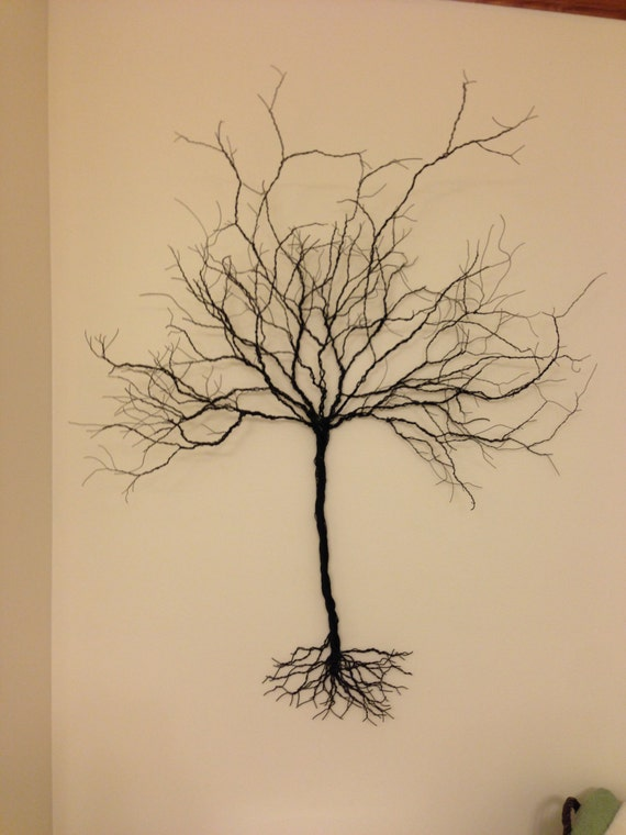 Wire Art Original Handmade 3D Wire tree wall hanging Small:   Etsy