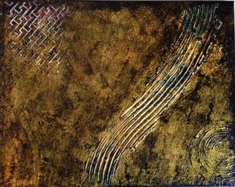 "Painting - Original Handmade 11x14 canvas entitled ""Muddy"""