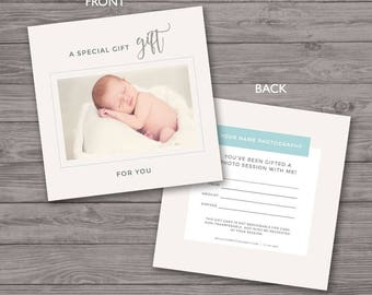 gift certificate photography set of 4 gift certificate etsy