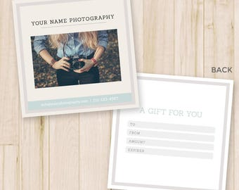 photography gift certificate template studio gift etsy