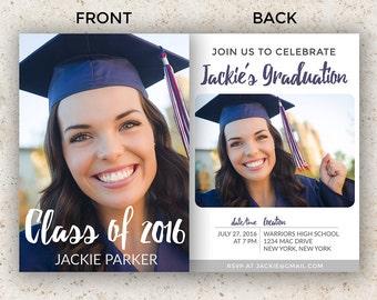 senior graduation template graduation invitation template graduation announcement photoshop psd instant download