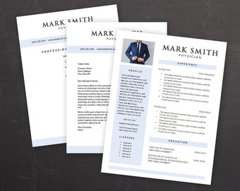 3-Pack Resume - Cover Letter - References Template Word - Modern Resume Template - Resume Cover Letter - MS Word *INSTANT DOWNLOAD*