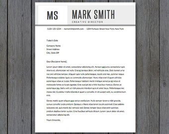"Cover Letter Template - 8.5x11""  - Cover Letter Template, Word - MS Word *INSTANT DOWNLOAD*"