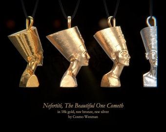 NEFERTITI necklace pendant (profile)   Gold, Silver, Bronze, Platinum, Ancient Egyptian Artifact, Egyptian, Cameo