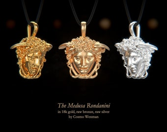 THE MEDUSA RONDANINI necklace pendant   Gold, Silver, Bronze, Platinum, Ancient Greek Artifact Jewelry, Medusa, Gorgon, Greek, Pagan, Cameo