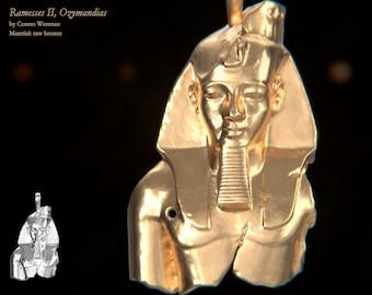RAMESSES II, OZYMANDIAS necklace pendant   Gold, Silver, Bronze, Platinum, Ancient Egyptian Artifact, Egyptian, Pagan, Cameo