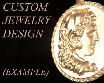 CUSTOM DESIGN (Images only) Pendant, Brooch   Gold, Silver, Bronze, Platinum, Ancient Greek Artifact Jewelry, Pagan, Cameo