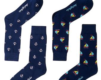 For Sailors Unique Socks Womens Socks Men Socks Anchor Socks Gift for Him Gift for Groomsmen Boat Socks Fun Socks