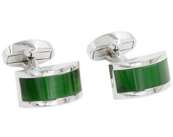 Mens Square Lime /& Purple Fashion Wedding Cufflinks /& Gift Box By Onyx Art