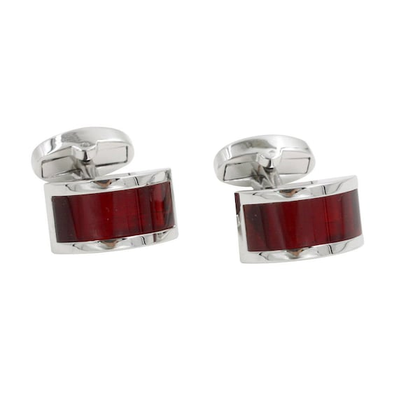 Ruby Anniversary Gift For Husband Red Ruby Cufflinks Etsy