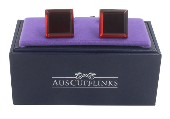 Ruby Stone Red Cufflinks Cuff Links Gift for Men 40th Ruby Anniversary Husband Present Wedding Anniversary Gift