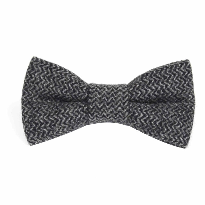 Bow Tie Mens Grey Black Bow Tie Bowtie Bow Ties for Men Husband Gift for Him Wedding Tuxedo Gift Mens Gift for Dad Groomsmen Gift Groom Gift
