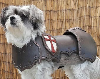 Cosplay DIY Prop Basic Dog Armor / Armour Costume Pattern Template for EVA Foam - Small dog size