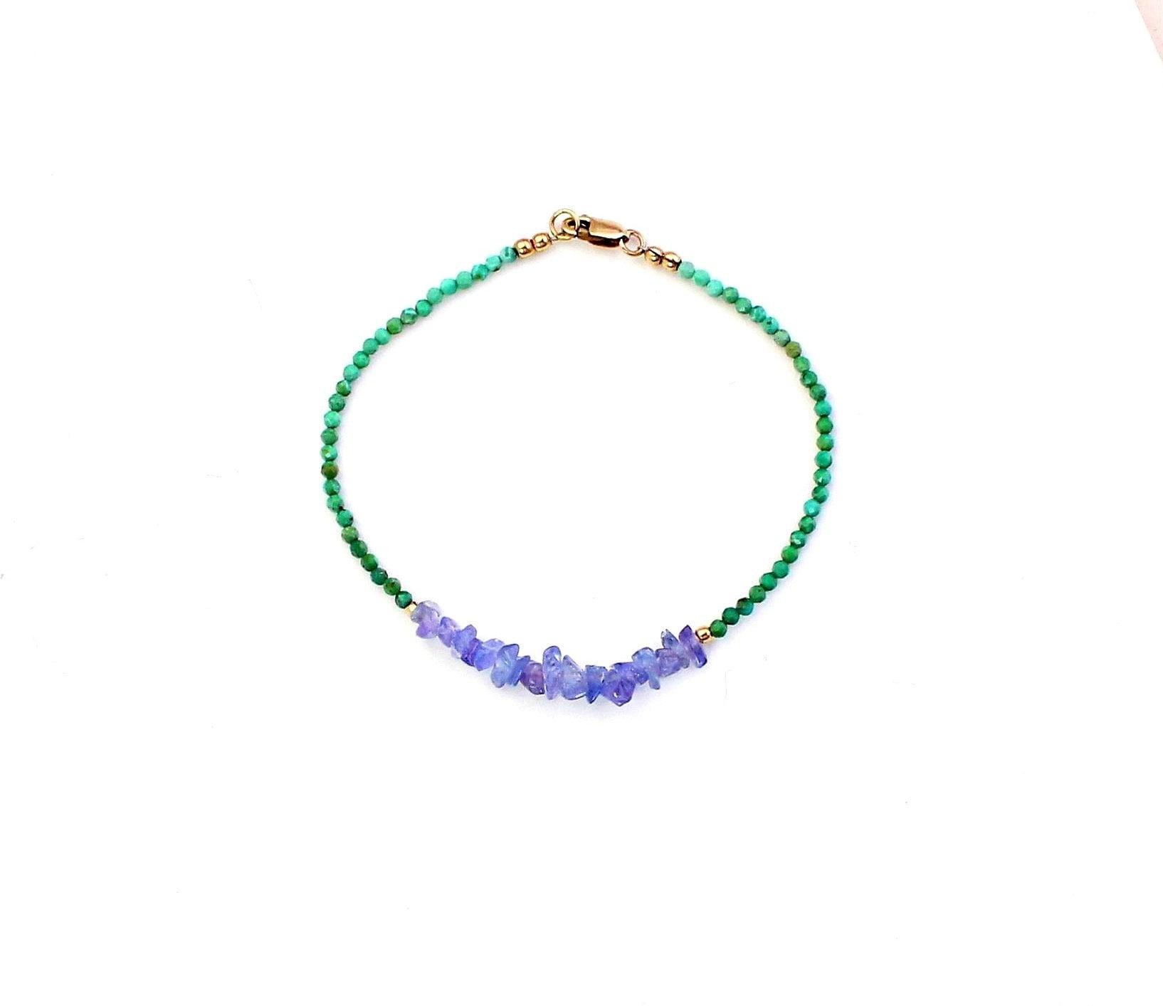 Gemstone Bracelet Stack Bracelet Turquoise Bracelet Boho Bracelet Gift For Her Bracelet For Women December Birthstone Bead Bracelet