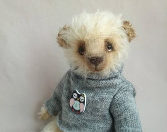 Collection bear Artist teddy bear Teddy Bear Oliver OOAK  Bear Toy bear Mohair bear Bear handmade Teddy toy  Interior toy  Bear in clothes