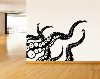 OCTOPUS Underwater Sea Wall Tattoo Wall Sticker Wall Sticker c1067