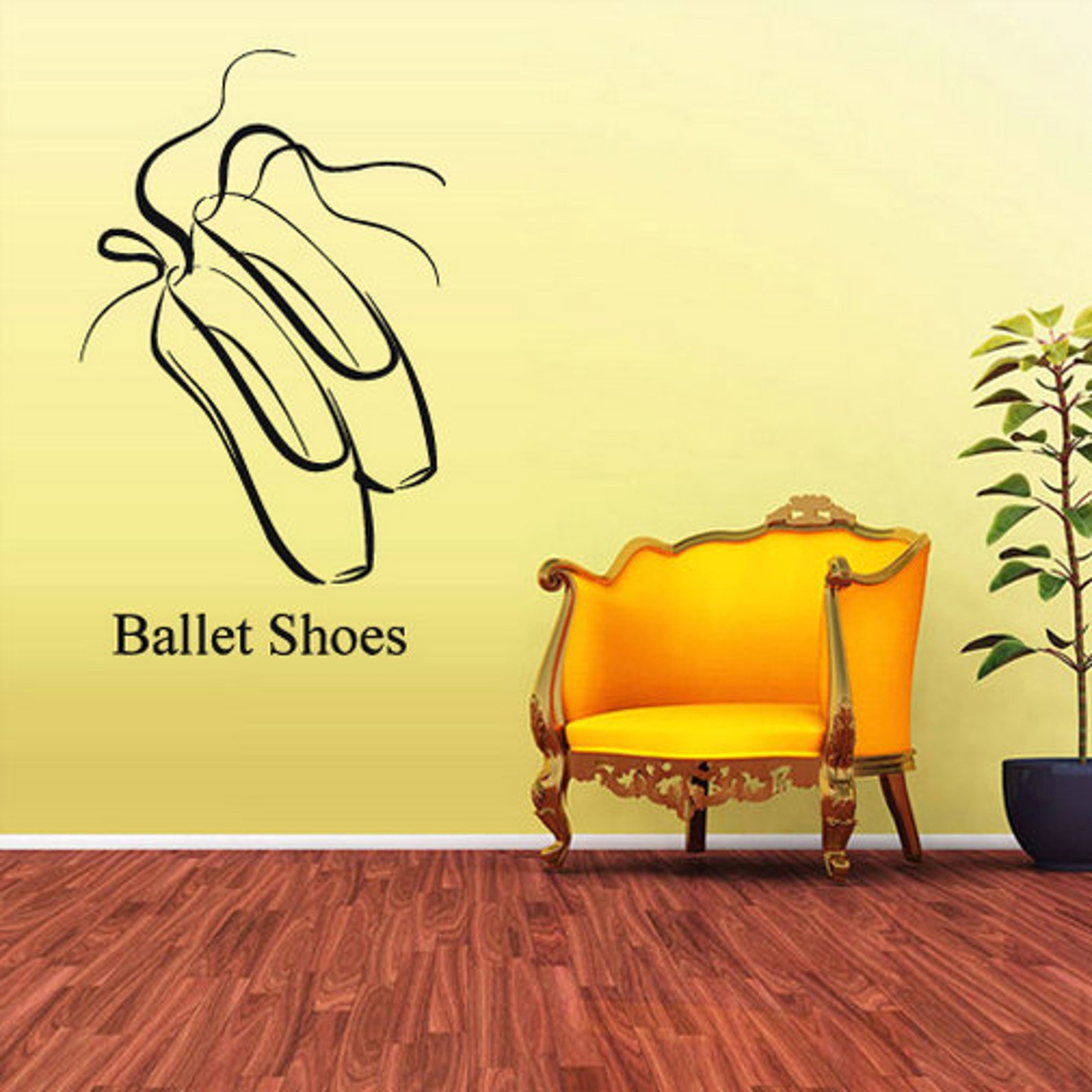 rvz1642 wall decal vinyl sticker decals ballerina ballet shoes dancer kids boys