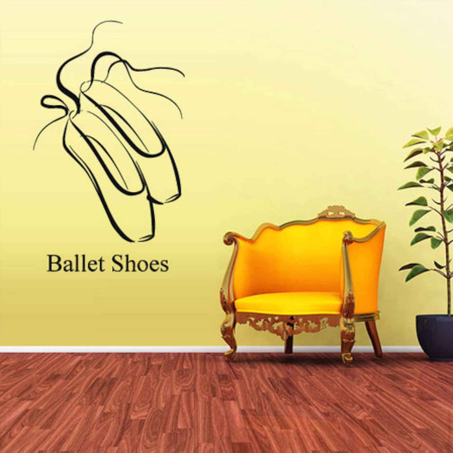 rvz1642 wall decal vinyl sticker decals ballerina ballet shoes dancer kids boys