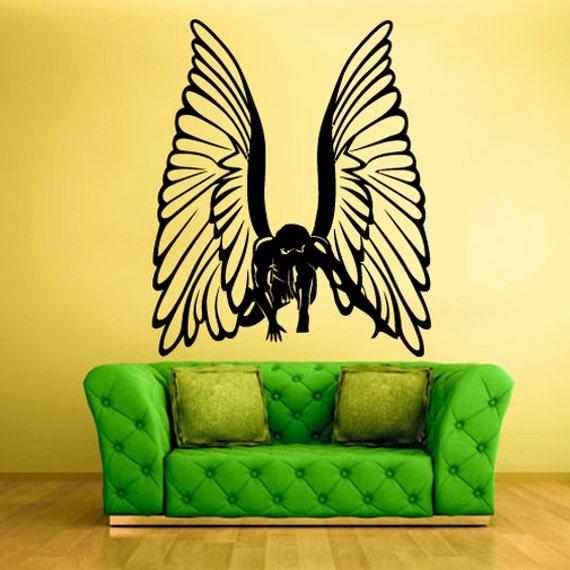 wings wall decal angel wings wall decor wings wall art wings | etsy