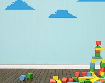 rvz1740 Wall Vinyl Sticker Bedroom Decal Set of 4 Clouds