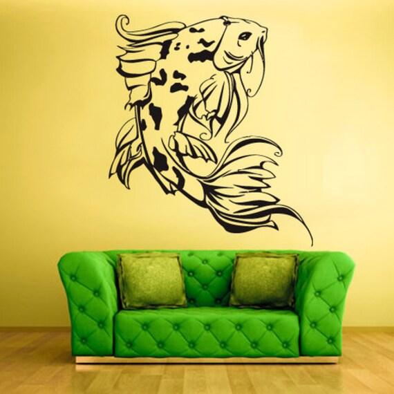 koi fish wall decal koi fish wall decor koi fish wall art koi | etsy