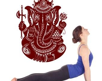 rvz2645 Wall Vinyl Decal Sticker Bedroom Decal Ganesh Ganesha Elephant Buddha Yoga