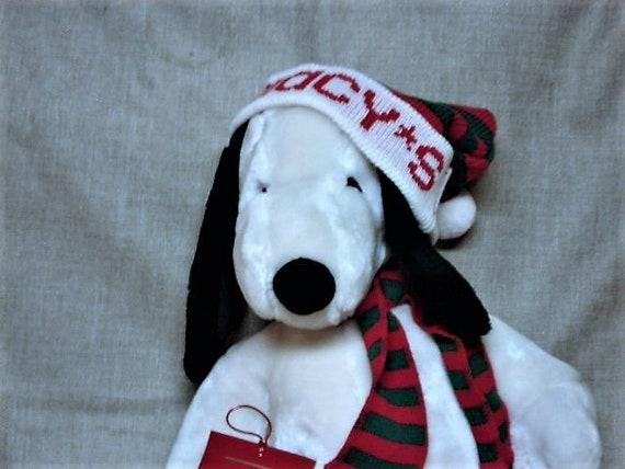 Vintage 1968 Macy S Christmas Peanuts Snoopy Plush Etsy