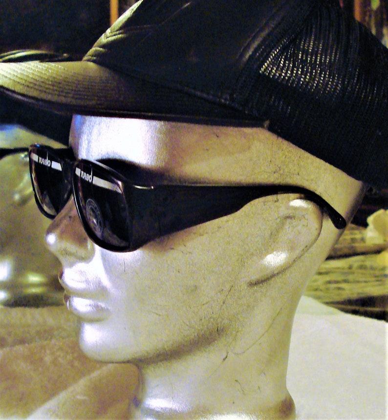 a6750dafba5 Rare Vintage Turbo Sunglasses Super Dark Lens Black Frame