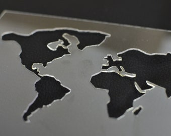 World Map Stencil Etsy