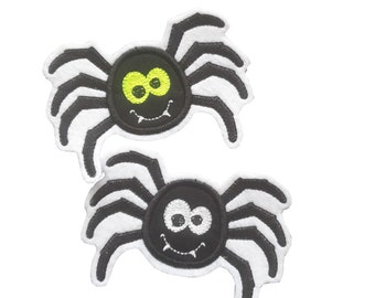 Spider application, patch with white or neon yellow eyes