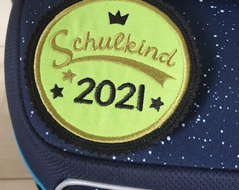 Satchel magnetic button, schoolchild 2021, school enrolment