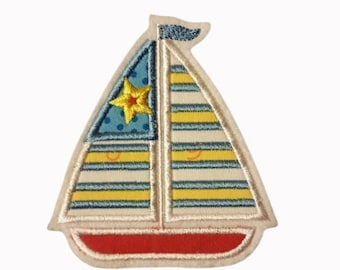 Sailing ship with star application, Maritime patch