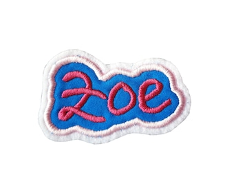 Application name up to 6 letters, school bags patches