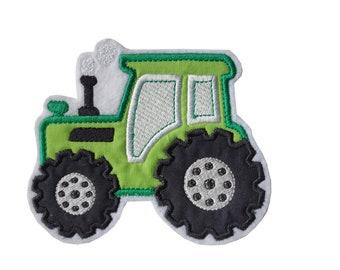 Traktor grün Aufnäher, Applikation