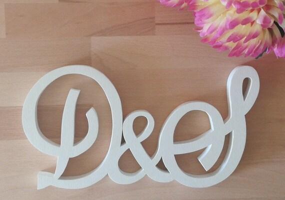 Decorazioni In Legno Per La Casa : Iniziali in legno per matrimonicerimonie o decorazioni casa etsy
