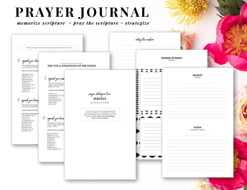 Prayer Journal, Printable Prayer Journal, Personalized Prayer Journal,  Instant Digital Download PDF