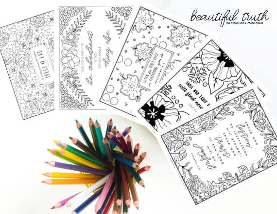TRUST Bundle Printable Coloring Pages Christian Coloring | Etsy