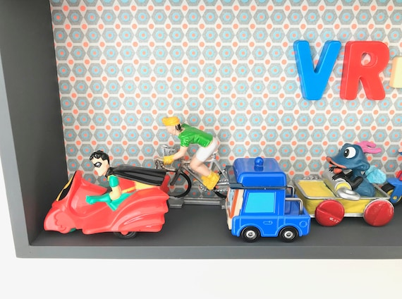 3d Frame Characters Car Truck Cars Cartoon Figures Child Etsy
