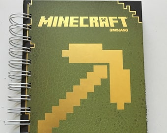 Minecraft Handbook/sketchbook/bullet journal/upcycled | Etsy
