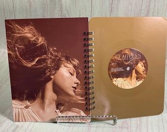 Vinyl Record Notebook- Vinyl Notebook/Sketchbook/Upcycled Journal/Record Journal/Recycled Journal/Album Cover Notebook