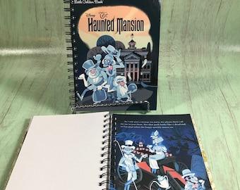 Disney notebook Haunted Mansion journal - Little Golden Book/Bullet Journal/storybook journal/Upcycled journal/Disney journal/disney rides